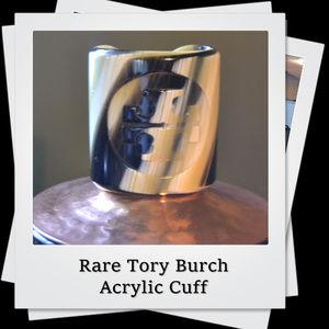 EUC | RARE Tory Burch Acrylic Cuff Bracelet